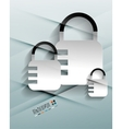 lock paper design vector image
