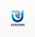 logo jerome gradient colorful style vector image