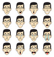 man face with eyeglasses emoji vector image