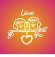 owls fall in love on the branch vector image vector image