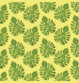 pattern color set decorative of palm green leaves vector image vector image