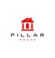pillar house logo icon vector image