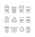 recycle waste bins vector image