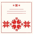 Red greeting card with folk scandinavian and vector image vector image