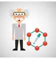 scientist chemistry concept test dropper vector image vector image