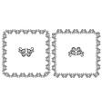 Set openwork floral frame for design vector image vector image