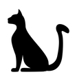 silhouette a cat vector image