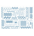 simple wavy line design elements set vector image