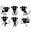 small images of monkeys vector image vector image