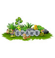 snake is playing in the garden vector image