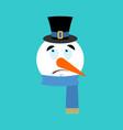 snowman surprised emotion avatar astonished emoji vector image vector image