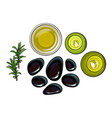 spa set - basalt stones massage oil towel vector image vector image