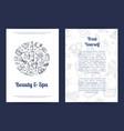 spa sketch label hand drawn elements vector image