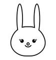 stuffed animal rabbit vector image vector image