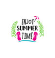 summer badge set vector image vector image