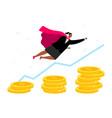 superhero business woman vector image vector image