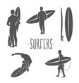 surfing logo ride the wave surf rider vector image vector image