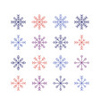 the snowflake set vector image