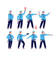 traffic police road security control vector image