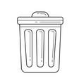 trash bin line icon vector image vector image