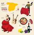 Travel Concept Spain Landmark Flat Icons