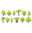 tree set color vector image vector image