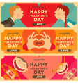 Valentines Day Posters Set vector image