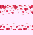valentines heart design banner decorative vector image vector image