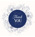 vintage navy blue vintage floral drawing vector image