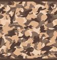 war desert brown safari camouflage seamless vector image vector image