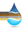 water filtration symbol vector image vector image