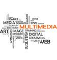word cloud multimedia vector image vector image