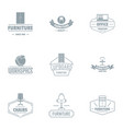 work location logo set simple style vector image