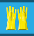 yellow rubber gloves vector image