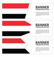 yemen flag banners collection independence day vector image