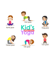 yoga kids poses cartoon