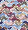 geometric patchwork pattern in trend colors vector image