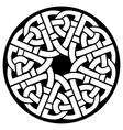 circle celtic frame vector image