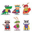Superhero animal kids cartoon vector image