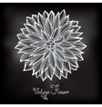 Card with beautiful flower dahlia vector image