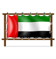 A wooden frame with the UAE flag vector image vector image