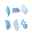 abstract blue business and technology logos vector image vector image