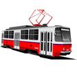 al 0604 tram 01 vector image vector image