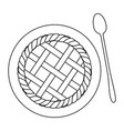 apple pie icon vector image vector image