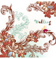 beautiful wedding background with flowers vector image