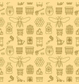 beekeeping seamless pattern yellow color vector image vector image