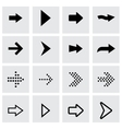 black arrows icon set vector image vector image