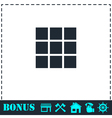 Building block icon flat vector image vector image