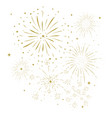 bursting fireworks with stars and sparks vector image vector image