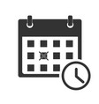 calendar icon on white background flat style vector image vector image